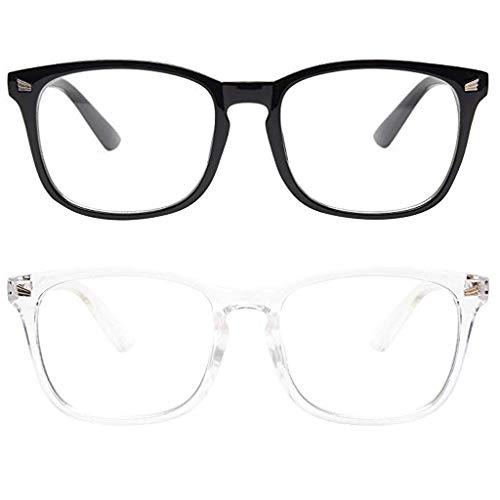 Mujeres Hombres Gafas Eyestrain UV Luz Azul Bloqueo de Ordenador Lectura Teléfonos Juegos Gafas Anti(E)