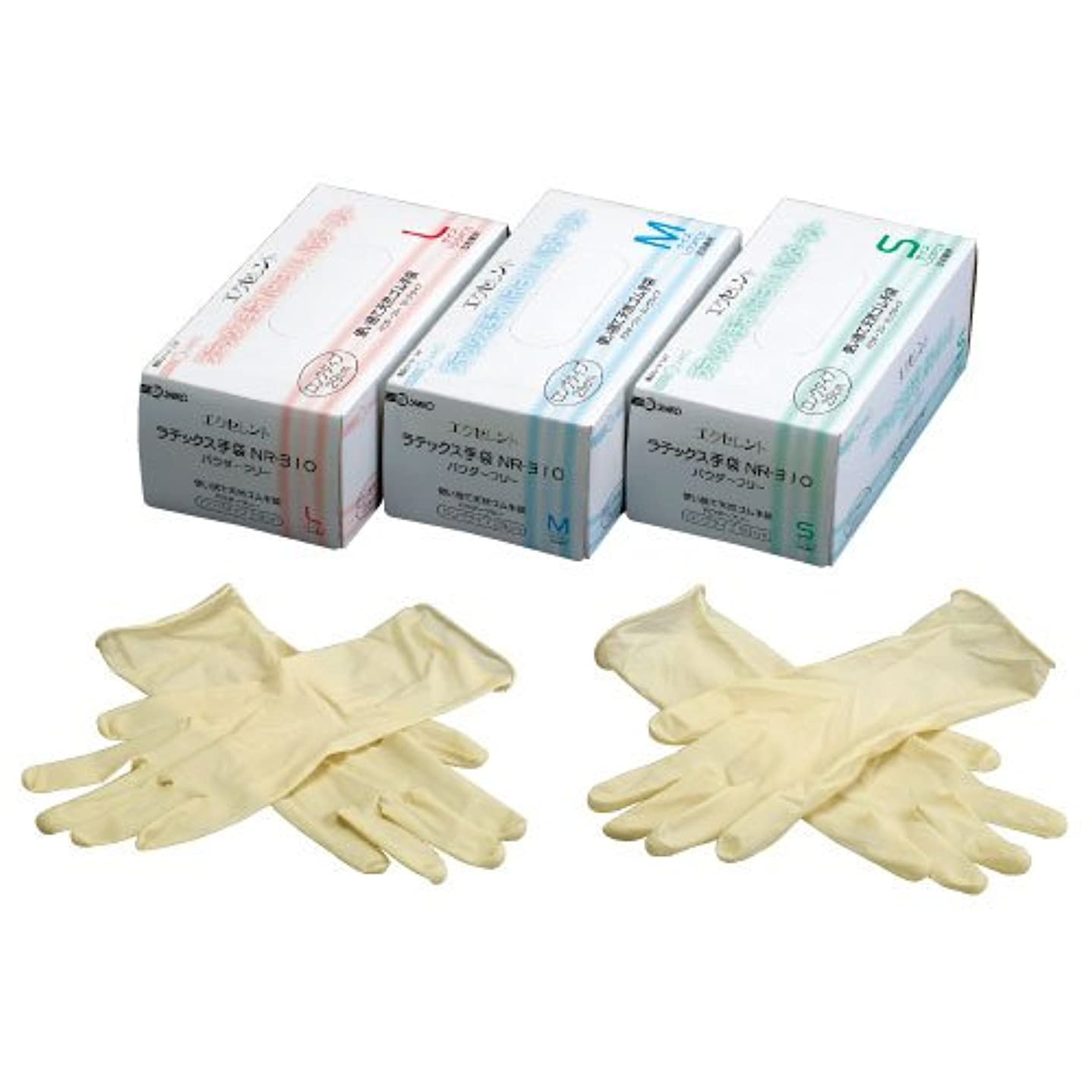 間違いなくであること同級生エクセレントラテックス手袋PFロング ????????????????(23-3140-00)NR-310(100????)L L