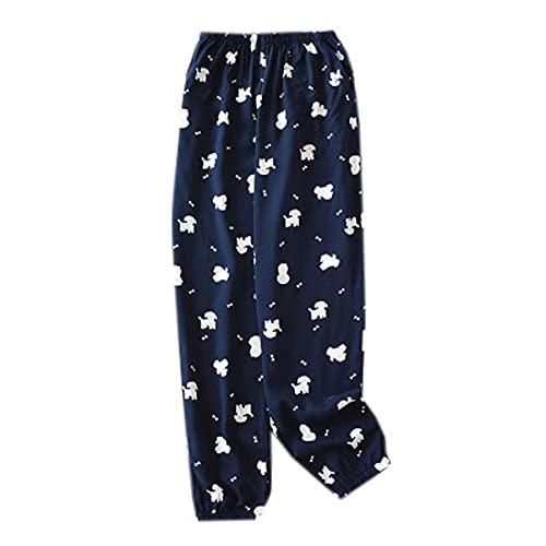 WJJKSLAOQ Pantalones De Cintura EláStica para Mujer, Pantalones De Verano para Mujer, Pantalones De Playa Estampados, Pijamas De Mujer, Pijamas Casuales, Ropa Informal para El Hogar