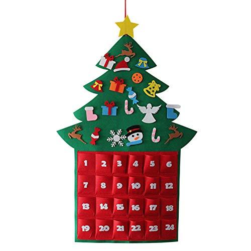 Gosear Fieltro Lindo Estilo de árbol de Navidad Que cuelga
