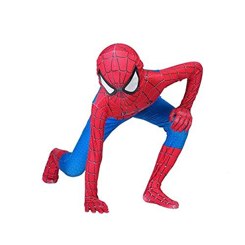 Superhero Kids Bodysuit Costumes Halloween Cosplay Costumes (100) Light Red