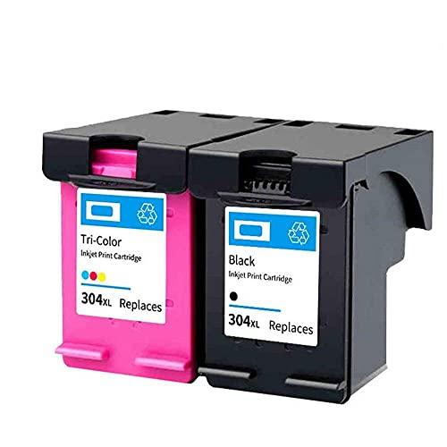 para Impresora PRTA38064 304XL Cartucho de Tinta Compatible para Hp304 para HP 304 XL Envy 5010 5020 5030 5032 5034 Deskjet 2632 2630 2620 3720 3721 3723 - (Color : 304XL BK Color)