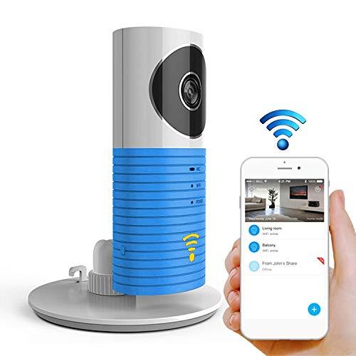 YKDY Activa automáticamente sensor de luz inteligente para el hogar, cámara IP WiFi, compatible con vídeo y captura y detección de infrarrojos, (naranja), azul