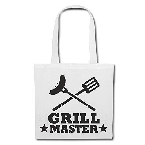 Tasche Umhängetasche Grill Master - Grillen - Grill - BBQ - Steak Einkaufstasche Schulbeutel Turnbeutel in Weiß