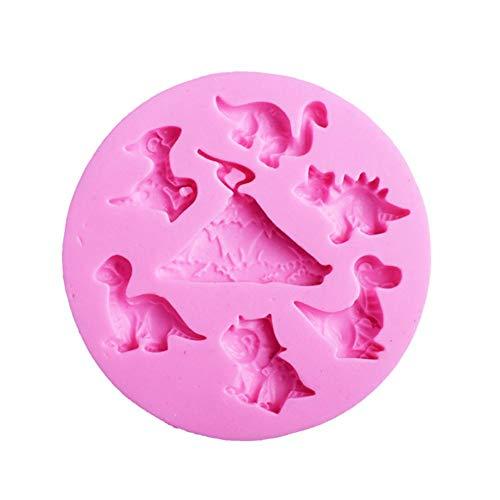 Chalkalon Molde de Silicona para Hacer Dinosaurios de Chocolate, Molde para Hornear Chocolate, Dulces, Dulces, Hecho a Mano, para Hacer jabón, Fondant
