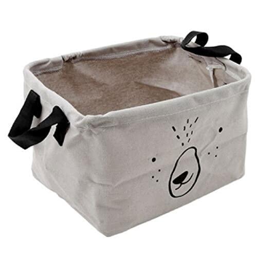 ZAIZAI Cesta de lavandería Plegable con Tapa Cestas de Almacenamiento de Juguetes Papelera para niños Juguetes Organizador de Ropa Animal Lindo (Color : Gray)
