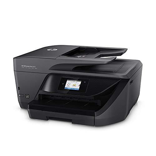 HP OfficeJet 6970 Aio- Impresora de tinta multifunción (Impresión, copia, escáner, fax, USB 2.0, 1xEthernet, pantalla táctil en color, impresión a doble cara), color negro