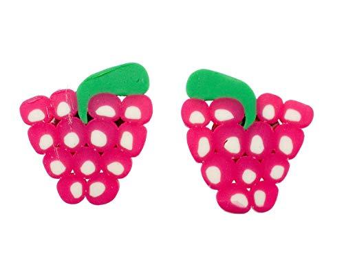 Miniblings fruta de la frambuesa de plastico aretes de fruta - pendientes de joyería de moda hechos a mano tapo pendientes