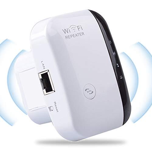 YingStar Repetidor WiFi Amplificador Señal WiFi Extensor Red WiFi 300Mbps 2.4GHz Repeater WiFi Booster Wireless Extender Inalámbrico Punto Acceso Modo Ap Enrutador WiFi con Botón WPS Puerto Ethernet