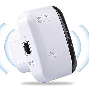 YingStar Repetidor Extensor de Red WiFi Amplificador Señal WiFi 300Mbps Extensor WiFi Amplificador WiFi 2.4GHz Repetidor Inalámbrico con Botón WPS Modo Ap y Función WPS 1 Puerto Fast Ethernet
