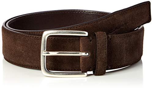 Gant Classic Suede Belt Cinturón, Marrón Oscuro, 85-34 para Hombre