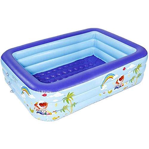 Gnohnay Piscina Hinchable Piscina Grande para niños Familiar Piscina Inflable de Completo para niños Adultos Bebés Fiestas, Vacaciones de Verano con Agua, Bolas Marinas y Arena,1.2M