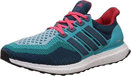 adidas Ultra Boost M, Zapatillas de Running Hombre, Verde/Azul/Rojo (Vertra/Minera/Rojimp), 40 2/3