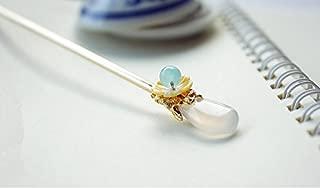 Handmade Brass Classical Hair Clasp Decor Chinese Traditional Style Hair Sticks Shawl Pins Picks Hair Sticks, Hairpin (L : 14.5 cm) (Length: 14.5)