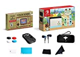 Newest Nintendo Switch Animal Crossing: New Horizons Edition Console Bundle Game & Watch: Super Mario BROS - Pastel Green and Blue Joy-Con - 6.2' Touchscreen LCD Display W/ 13 in 1 Supper Kit Case