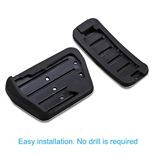 AutoBig Gas Brake Pedal Pad Cover Set Compatible with Range Rover Sport 2014-2021, Land Rover Discovery 5 2017-2021