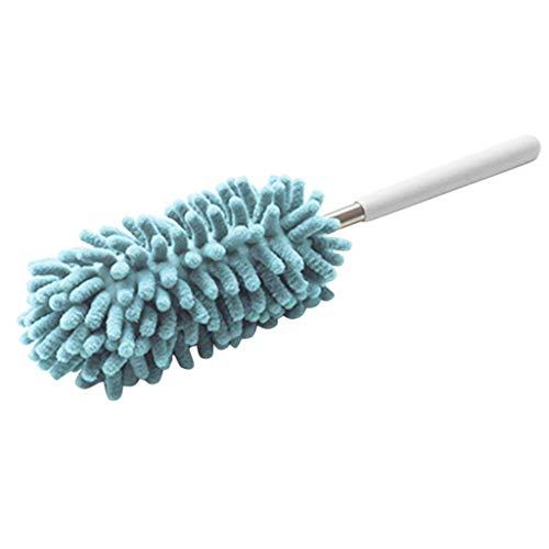 XKMY Cepillo de polvo extensible de microfibra para eliminar el polvo, cepillo de limpieza de escritorio para el hogar, cepillo ajustable de microfibra para limpiar muebles (color: azul)