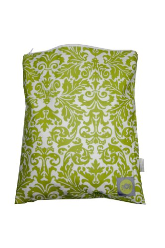 Itzy Ritzy Wet Happened Zippered Wet Bag Avocado Damask