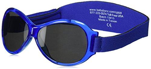 Distribution (DE Baby) Banz 01090 Sonnenbrille Retro Kidz mit elastischem Neoprenband, für Kopfumfang 50-60 cm (circa bis 2-5 jahre), UV400, blau
