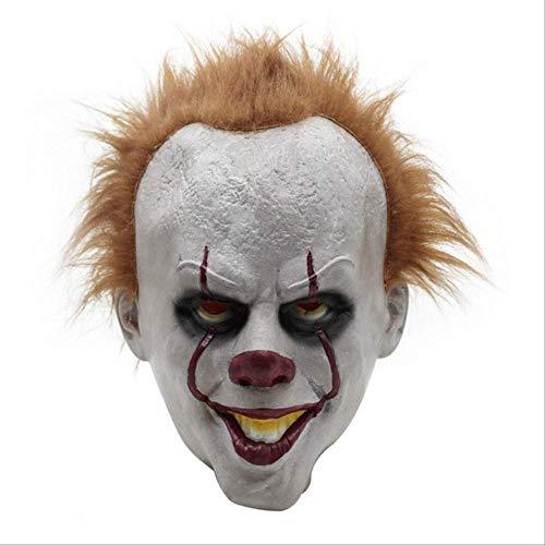 CHNWSJ Kostuum voor halloween Cosplay Kostuums Enge Joker pak Fancy Afzonderlijk Masker Halloween Party Volwassen Mannen Vrouwen Clown Maskers XXL oranje