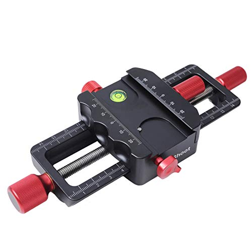iShoot Improved Universal 150mm Macro Focusing Rail Slider Close-up Shooting Head All Metal Camera Support Bracket Holder, Built-in Arca-Swiss Type Clamp and Quick Release Plate for Tripod Ballhead