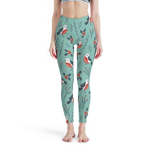 FFanClassic Leggings deportivos Little Bird para mujer, cómodos, elásticos, pantalones de yoga para pilates, gimnasio, color blanco, 2XL