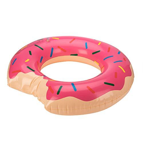 Phone Star - Donut Schwimmring - aufblasbarer Schwimmring - schwimmreifen Kinder 3-6 Jahre - ca. 70cm Durchmesser - Pool Spielzeug - pink