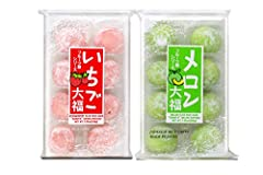 Japanese Mochi Fruits Daifuku Perfect for the college student, military personnel, the office, birthdays, Halloween, Pinatas, holidays or any other special occasion. Strawberry mochi, Melon mochi Specially packaged in ( Party Time Bubble7 ) labeled B...