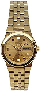 Seiko automatic 21 Jewels Calendar golden Stainless steel ladies watch SYMB78J