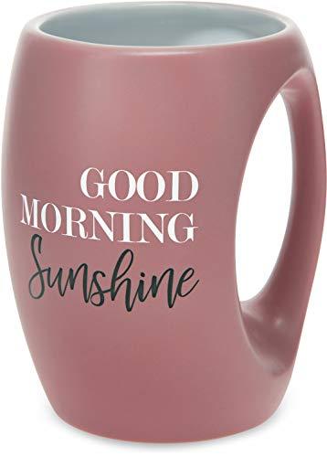 Pavilion Gift Company 10521 Pink Huggable Hand Warming 16 oz Coffee Cup Mug Good Morning Sunshine