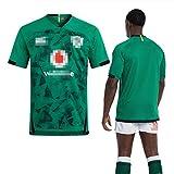 KHXJYC Maillot De Rugby Irlandais, T-Shirt à Manches Courtes D'EntraîNement à SéChage Rapide, T-Shirt De Sport Et De Loisirs LâChe Et Respirant, Peut êTre Lavé à Plusieurs Reprises,XXL