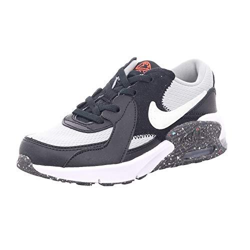 Nike Air MAX EXCEE MTF (PS), Zapatillas Deportivas, Black White Lt Smoke Grey Bright Crimson, 34 EU