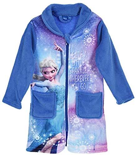 Trendstern Frozen - Albornoz para niña, diseño de Anna y Elsa Azul 104 cm