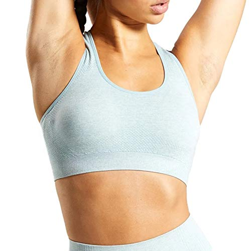 Aoxjox Women's Sports Bra Vital Gym Yoga Seamless Workout Crop (Vital...
