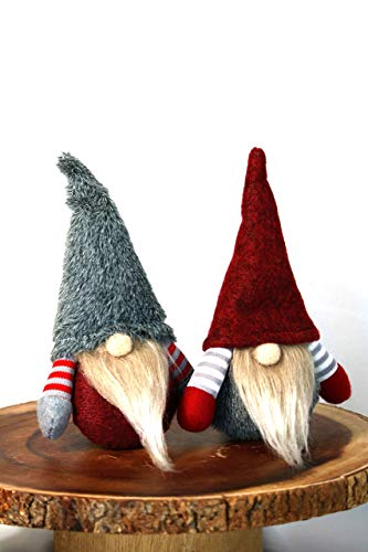 2 Set Adorable Gnomes, Valentine Gnomes, Hand Made Swedish Gnomes, Plush Stuffed Gnomes, Garden Decoration, Thanks Giving Gift (Size: 7.7 inches)