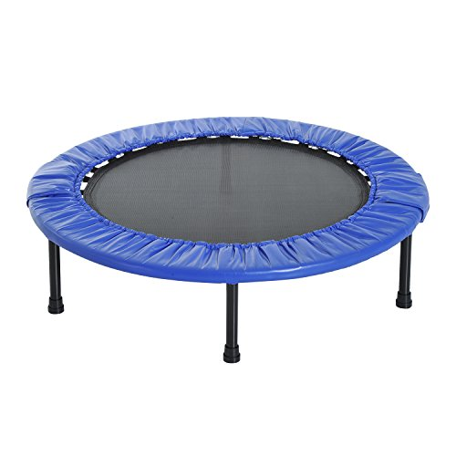 HOMCOM Foldable Mini Trampoline Aerobic Bouncer Rebounder Kids Indoor Outdoor Fitness Jumper (40in - 101.5cm)