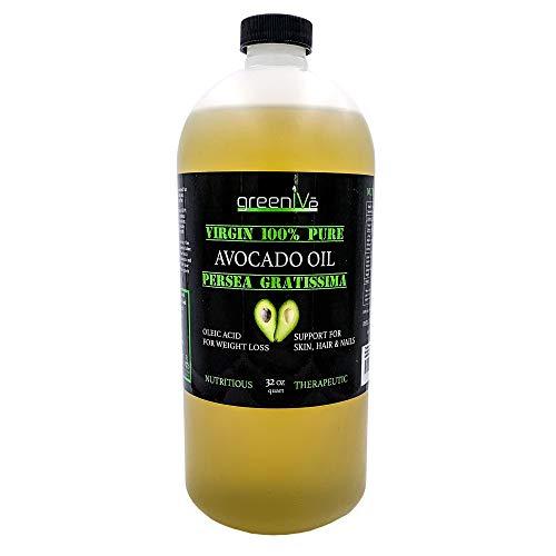 GreenIVe - Avocado Oil - 100% Pure Avocado Oil - Virgin - Exclusively on Amazon (32 Ounce)
