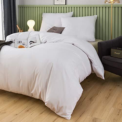 MohAP - Funda nórdica de 240 x 260 cm y fundas de almohada de 65 x 65 x 2 cm, 110 hilos/cm2, juego de cama para 2 personas con cierre de cremallera