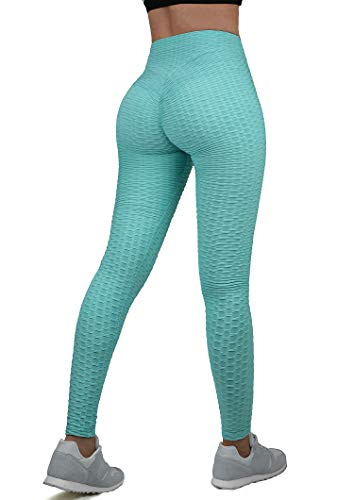 HISMIS Women's Honeycomb Ruched Butt Lifting High Waist Yoga Pants Tummy Control Slimming Booty Leggings Tights