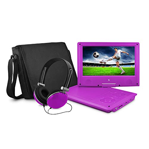 Ematic 9' Portable DVD Player with Matching Headphones and Bag - EPD909pr