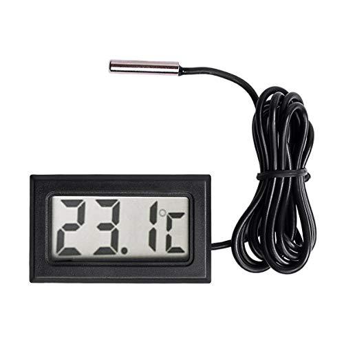 REFURBISHHOUSE Nouveau Thermometre LCD numerique Capteur de sonde de jauge de Temperature de Plage de -50 Celsius C a + 110 Celsius C