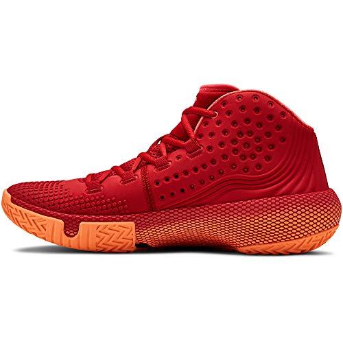 Under Armour UA HOVR Havoc 2, Chaussures de Basketball Homme, Rouge (Red/Glow Orange/Black (600) 600), 45.5 EU