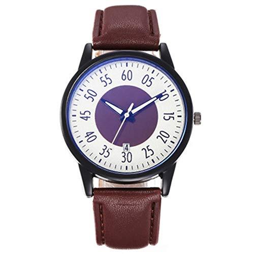YZCKW Beiläufiges Kreatives Digitales Einzelnes Kalender-Quarz-Uhr-Geschenk Der Männer A-to Armbanduhr