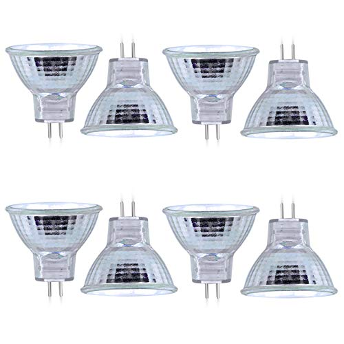 Bonlux MR11 GU4 Halogen Glühlampen Dimmbar 20W 300lm Warmweiß 2800K 35mm Halogenlampen 12V Spotstrahler Halogen Reflektorlampen für Hauptbeleuchtung (8 Stück)