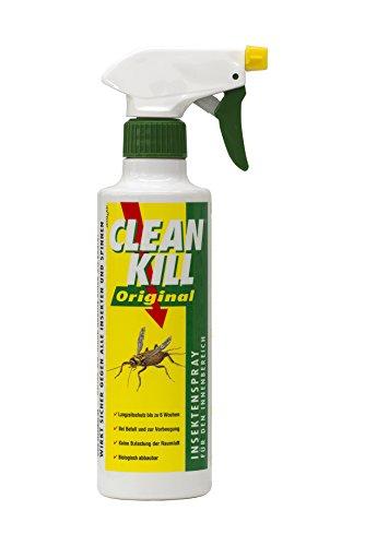 CLEAN KILL Original Insektenspray mit Sofort- und Langzeitwirkung gegen alle Ungeziefer (Silberfische, Motten, Fliegen, Spinnen etc.) Biologisch abbaubar, Geruchlos
