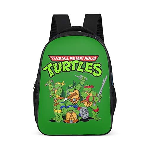 Mochila infantil con diseño de las Tortugas Ninja para niños, color verde Gris gris talla única