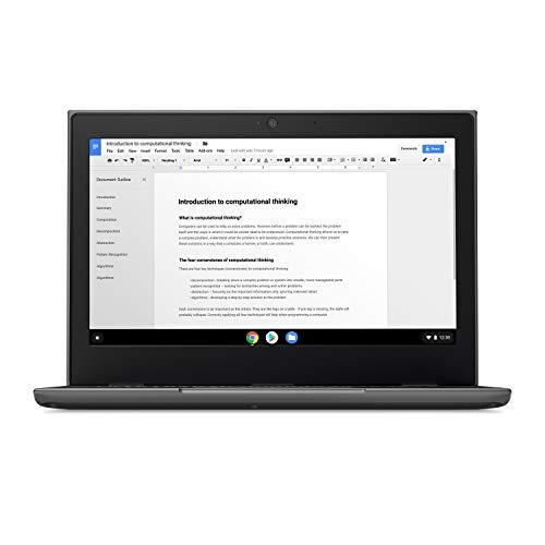 Product Image 7: Lenovo 100E Chromebook 2ND Gen Laptop, 11.6″ HD (1366 X 768) Display, MediaTek MT8173C Processor, 4GB LPDDR3 RAM, 16GB eMMC TLC SSD, Powervr GX6250, Chrome OS, 81QB000AUS, Black