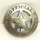 Brothel Inspector Obsolete Old West Police Badge Star