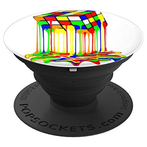 rubic rubix rubik cubo magico derretiso grafica PopSockets Agarre y Soporte para Teléfonos y Tabletas