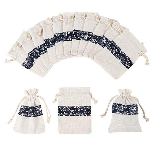 Sakuraneko コットン 巾着袋 ギフトバッグ プレゼント用 ジュエリーポーチ アクセサリー・お菓子収納 無地 30枚